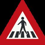 علائم راهنمایی و رانندگی اخطاری- گذرگاه عابر