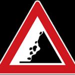 علائم راهنمایی و رانندگی اخطاری- ریزش سنگ