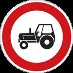 تابلو راهنمایی رانندگی عبور خودرو کشاورزی ممنوع