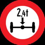 تابلو عبور بار با بیش از 2.4 تن بر هر محور ممنوع