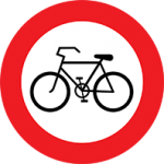 تابلو عبور دوچرخه ممنوع