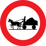 تابلو عبور گاری ممنوع