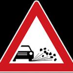 مهمترین تابلوهای راهنمایی رانندگی - پرتاب سنگ